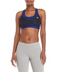 fbef7eeeaa23c adidas - Techfit Mesh Print Sports Bra - Lyst