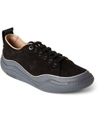 Lanvin - Aged Black Suede Low-top Diving Sneakers - Lyst