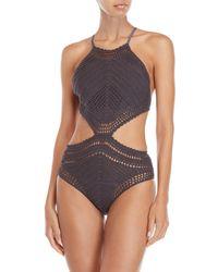 Suboo - Crochet Halter One-piece Swimsuit - Lyst