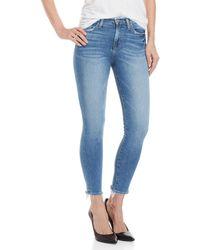 Flying Monkey - Frayed Trim Skinny Jeans - Lyst