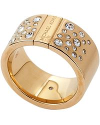 Michael Kors | Gold-tone Accented Ring | Lyst