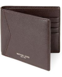 Michael Kors - Brown Bryant Leather Wallet - Lyst