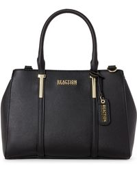 Kenneth Cole Reaction - Black Harriet Faux Leather Satchel - Lyst