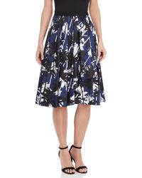 Jason Wu - Palm Print Pleated Midi Skirt - Lyst