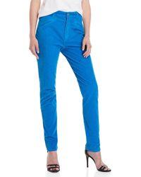 Fiorucci - Edie Blue Seventies Corduroy Slim Pants - Lyst