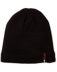 32 Degrees - Black Faux Fur-lined Beanie - Lyst
