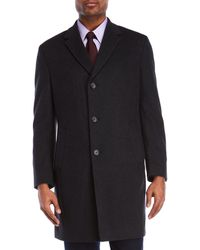 Kenneth Cole - Raburn Charcoal Coat - Lyst
