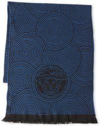 Versace - Medusa Circle Wool Scarf - Lyst