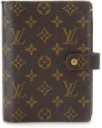 Louis Vuitton - Monogram Large Ring Agenda Cover - Vintage - Lyst