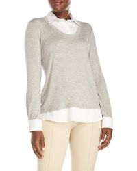 Drew - Quinn Layered Effect Sweater - Lyst