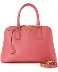 Prada - Saffiano Two Way Handbag - Vintage - Lyst