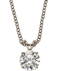 Fantasia by Deserio | 14K White Gold-Plated Necklace & Cubic Zirconia Pendant | Lyst