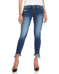 Flying Monkey - Exposed Zip Skinny Jeans - Lyst