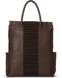Malloni - Dark Brown Maxi Leather Tote - Lyst