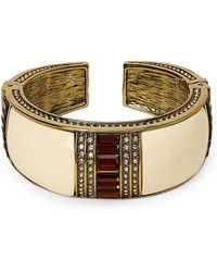 Heidi Daus - Ivory Crystal Baguette Hinged Bracelet - Lyst
