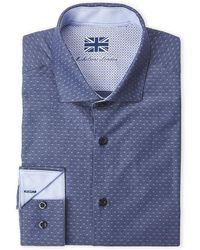 Michelsons Of London - Navy Diamond Bobby Shirt - Lyst
