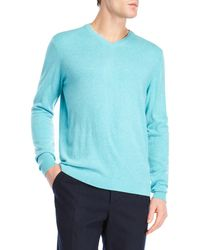 Forte   Cashmere Double-trimmed V-neck Sweater   Lyst
