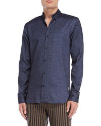 Scotch & Soda - Denim Blue Sport Shirt - Lyst