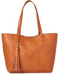 1c665e100c Moda Luxe - Tan Wanderlust Perforated Bag-in-bag Tote - Lyst
