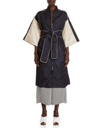 Hache - Belted Kimono Bomber Coat - Lyst