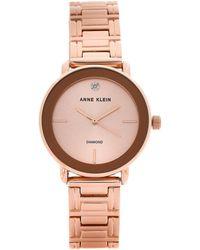 Anne Klein - Ak2496 Rose Gold-tone Watch - Lyst