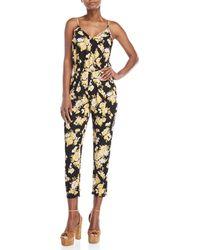 Love Tree - Floral Printed Jumpsuit - Lyst