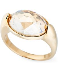 Lyst - Swarovski Dawn Crystal Ring - Size 8 in Metallic 70acd08bf04b