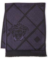 Versace - Medusa-print Wool Scarf - Lyst