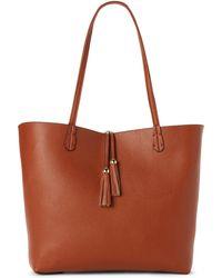 Imoshion - Cognac & Berry Reversible Bag-in-bag Tote - Lyst