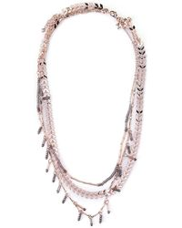 Rebecca Minkoff - Rose Gold-tone Layered Necklace - Lyst