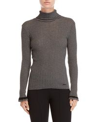 Sonia by Sonia Rykiel - Striped Turtleneck Sweater - Lyst
