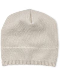 eb0618741e9 Lyst - Portolano Cashmere Basic Knit Beanie Hat in Blue