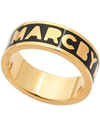 Marc By Marc Jacobs - Black & Gold-Tone Dreamy Ring - Lyst