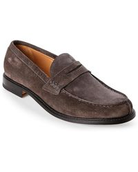 Campanile - Moc Toe Penny Loafers - Lyst