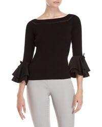 Catherine Malandrino - Bell Sleeve Ballet Sweater - Lyst