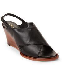Robert Clergerie - Glenn Crisscross Leather Wedge Sandals - Lyst
