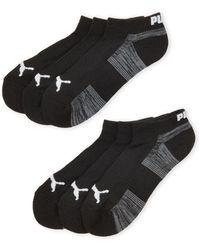 PUMA - 6-pack Cushioned Low-cut Socks - Lyst