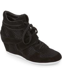 eae197a14db34 Lyst - Products Related to Ash Bowie Wedge Sneakers in Black