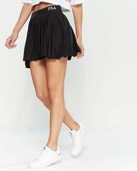 Fila - Black Pleated Tennis Skirt - Lyst