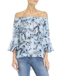 Sioni - Floral Smocked Off-the-shoulder Top - Lyst