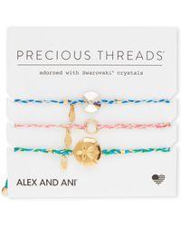 ALEX AND ANI - 3-piece Sand Dollar Precious Threads Bracelet - Lyst