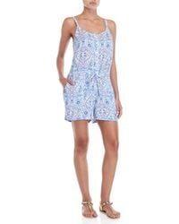 U.S. POLO ASSN. - Floral Printed Romper - Lyst