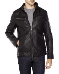 Xray Jeans - Faux Leather Textured Moto Jacket - Lyst