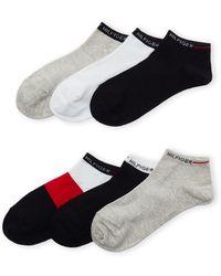 0426d69d Tommy Hilfiger - 6-pack Logo Ankle Socks - Lyst