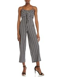 41b0908e157 Derek Heart - Stripe Self-tie Jumpsuit - Lyst