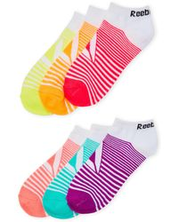 Reebok - 6-pack Low Cut Performance Training Socks - Lyst