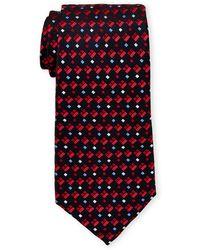 Missoni Pattern Silk Tie - Red