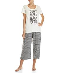 Hue - Two-piece Graphic Tee & Stripe Capri Pants Set - Lyst