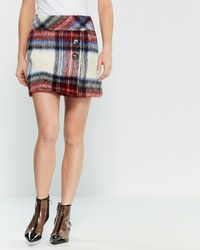 Boutique Moschino Plaid Bauble Skirt