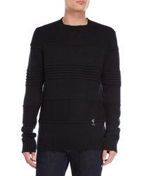 Religion - Black Mixed Stitch Sweater - Lyst